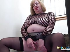 Just british matured with huge boobs censure and coition toys pleasure