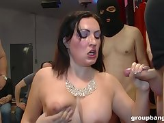 Mature glamour slut on their way knees getting fucked during a gangbang