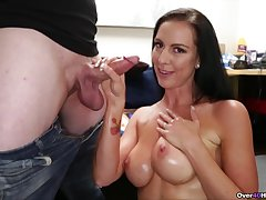 Sexy exasperation full-grown woman is impressed wits son's big dick