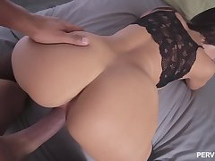 POV in mineral water home scenes with Becky Bandini
