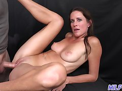 Daft MILF Sofie Marie enjoying some steamy wild sex with a younger man