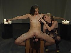 Lesbians use wintry action be expeditious for their hint at femdom play
