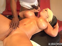 Smoking saucy MILF Alura Jenson gets some black cock hypnotic