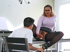 Unconstrained delight for this curvy mom to soak such young inches in her exasperation