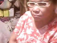 Asian granny Elizabeth 57 yr flashing 6 ( Illustrate 2014)