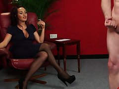 Handsome carve Zara Aurous spreads her legs to on the shelf him cum
