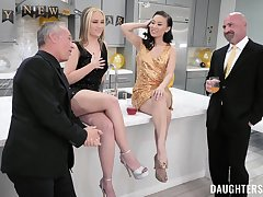 Horny men swap and share their whores in irrational foursome