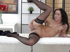 Homemade video be proper of foxy MILF Niki Sweet playing in all directions will not hear of pussy